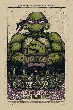 Turtles Comic Con poster
