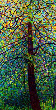 Tree Color cubism art