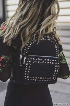 Studded Nylon Backpack