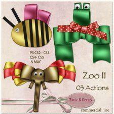 Action - Zoo II by Rose.li cudigitals.com cu commercial action bow ribbonelements scrap scrapbook digital graphics#digitalscrapbooking #photoshop #digiscrap #scrapbooking