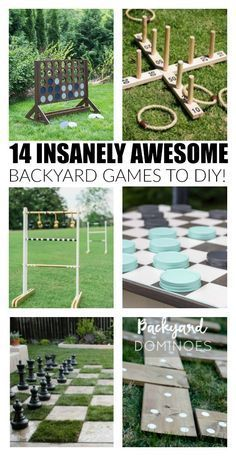 14 insanely awesome and fun backyard games to DIY now! http://www.littlehouseoffour.com