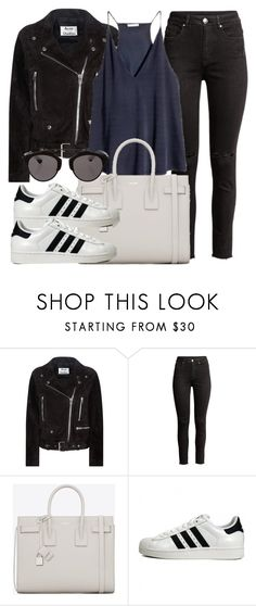 """Untitled #11968"" by vany-alvarado ❤ liked on Polyvore featuring Acne Studios, H&M, Yves Saint Laurent, adidas Originals and Christian Dior"