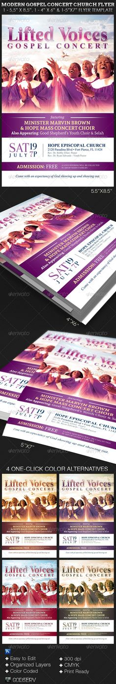 Arise Cantata Flyer Poster Template Cartel - benefit flyer template