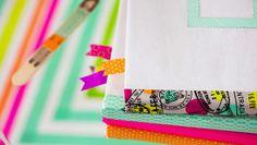 Una idea genial para forrar libros y decorarlos con washi tape para la vuelta al cole, que me ha encantado y además es muy fácil de hacer con este tutorial.
