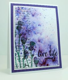 Happy Saturday!     Finally had time to make a card this week.  Sometimes life just get so busy and I miss out on my crafting time!   T...