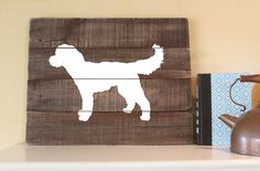 Goldendoodle Wood Sign Reclaimed Wood Sign by elhdesign77 on Etsy