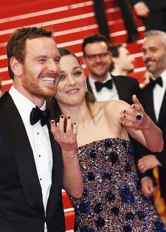 Michael Fassbender and Marion Cotillard attend the 'Macbeth' Premiere during the 68th annual Cannes Film Festival on May 23, 2015 in Cannes, France.