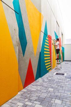 Urban Industrial Decor Tips Mural Painting, Mural Art, Wall Murals, Wall Art, Garden Mural, School Murals, Murals Street Art, Wall Drawing, Graffiti Wall