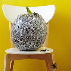 Zebra Duct Tape Pumpkin from Better Homes and Gardens!