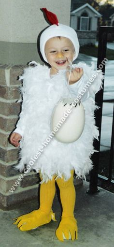 chicken costume... for Sosie.  Super cute but messy.