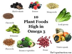 10 plant foods that are high in Omega 3 #plantbased