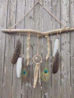 SALE Desert Drifter' Dreamcatcher Feathers door FoundandFeathers
