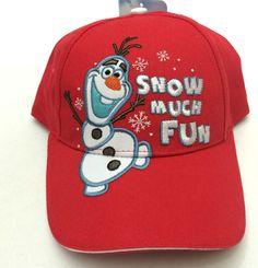 Disney Frozen Olaf Boys Hat Ball Cap Red Snow Much Fun  New #Berkshire #BaseballCap