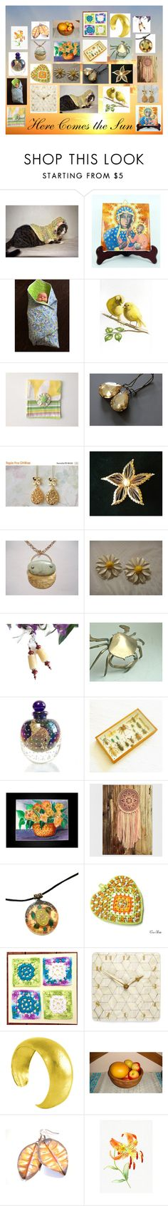 """Here Comes the Sun: Vintage and Handmade Gifts"" by paulinemcewen ❤ liked on Polyvore featuring vintage"