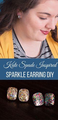 Kate Spade Inspired Sparkle Earring DIY