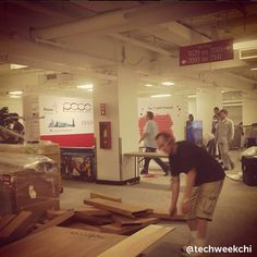 """""""slowly but surely, techweek comes together #techweekchi #techweekeve #excited"""""""