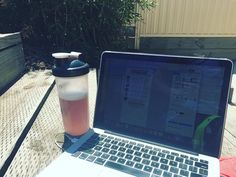 Too nice of a day to be inside!  Out in the sun working on some supplement plans & info sheets for the attendees of tomorrow's Ballarat Lifestyle & Fitness Expo!  While staying super hydrated with the @mtsnutrition Machine Fuel mixed berry. #fitness #lifestyle #expo #fitnessexpo #supplements #info #machinefuel #bcaa #aminos #writing #fitfam #follow #fit #fitness #mac #macbook #macbookpro #letsdothis #ballarat #summer #sun #sunny #work