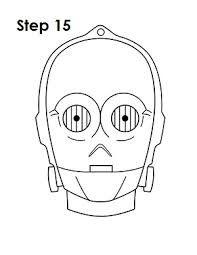 Resultado de imagen de dibujo cabeza c3po para galletas