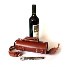 Don't let your love of bike riding stop you from also enjoying your love of beer or wine! If you ask me the two go hand in hand! These leather growlers and wine bottle holders will get you anywhere with your favorite adult beverage at hand!