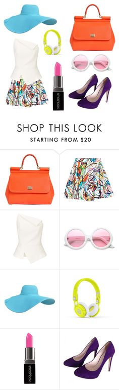 """I miss summer..."" by ermapaige ❤ liked on Polyvore featuring beauty, Dolce&Gabbana, Jeremy Scott, Roland Mouret, ZeroUV, Smashbox and Miu Miu"