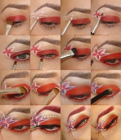 #babamarta #eye #makeup #tutorial #howto #red #white @ЯНА НАЛБАНТОВА