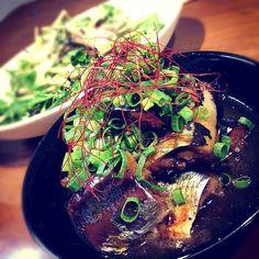 きょーちゃんに教えて貰ってから今季何度も作りました\(//∇//)\ それくらい惚れた❤❤❤ - 227件のもぐもぐ - 秋刀魚の甘露煮、水菜とツナと塩昆布のサラダ by mikisawa