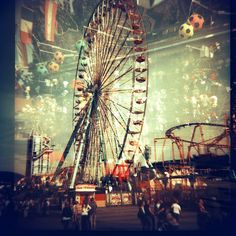 i love a good ferris wheel. Double Exposure Photography, City Sky, Carnival Rides, Multiple Exposure, Sky View, Believe In Magic, Photo Illustration, Illustrations, Photo Manipulation