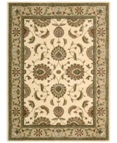 """Closeout! Nourison Area Rug, Somerset Collection ST60 Tabriz Ivory 2'3"""" x 8' Runner Rug"""