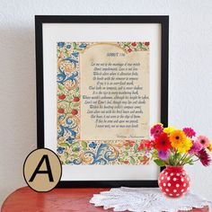 Shakepeare's Sonnet 116 printed or Printable Love by ArtToArt