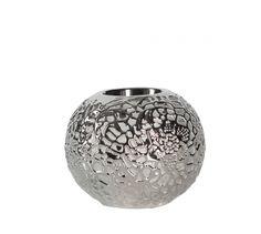Świecznik ceramiczny srebrny AZ-CE-662