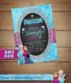 Frozen Birthday Invitation Frozen Birthday por ThePrintableOccasion