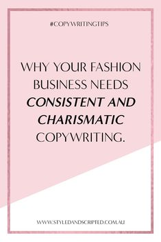 Own a fashion business? Remember: What you say is just as important as what you sell. Here's how successful brands use fashion copywriting to boost their sales and followers.    #copywriting #copywritingtip #copywritingadvice #copywritingideas #writingadvice #writingtips #copywriter