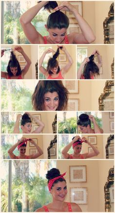 Super Easy Knotted Bun Updo and Simple Bun Hairstyle Tutorials - Fashion Diva Design