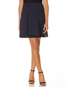 Navy a line skirt. The Limited