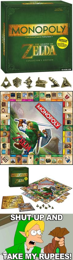 This Is The Zelda Monopoly Game Board, Out Next Month<-- i must buy this