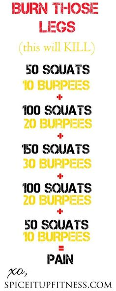 Awesome home workout for making those legs BURN! :-) | See more about home workouts leg workouts and workout at home.