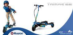 Adelanta la #Navidad de tu hij@ con el Trikke E2 de Razor. Combina el poder de la electricidad con el movimiento basculante corporal. Excelente para las próximas vacaciones de verano.