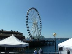 Photo of Seattle Great Wheel: NOT a must?: A cool Ferris wheel that allows you to see Seattle from high up! I was lucky to be there on a clear day. I got excellent views of Mt. Rainier, the Cascade mountains and the Puget Sound.