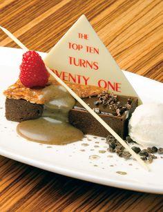 Dessert Professional | The Magazine Online - Chocolate Espresso Crème Brûlée with Bourbon Vanilla Gelato and Salted Coffee Caramel Sauce