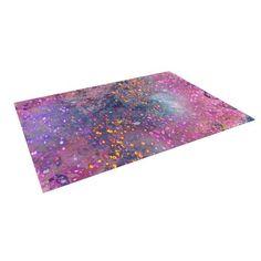 "Kess InHouse Marianna Tankelevich ""Pink Universe"" Pink Purple Indoor/Outdoor Floor Mat, 8-Feet by 8-Feet"