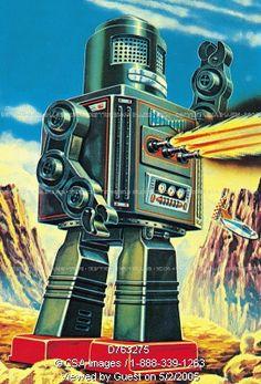 ☯☮ॐ American Hippie ~ Retro Robot