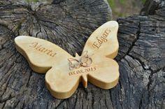 Portafedi in legno - Farfalla portafedi in legno