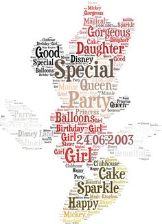 disney word cloud | Item Details Shipping & Policies