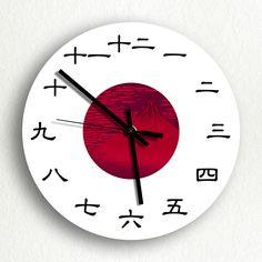 clock japan flag. Need for japanese teacher!!