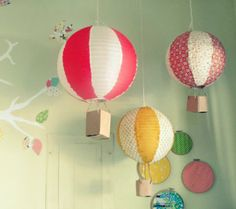 20 Simple and Awesome Paper Lantern Hacks and Re-Designs - Hot Air Balloons