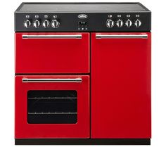 BELLING Country Range 90E Electric Ceramic Range Cooker - Red