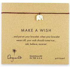 make a wish elephant bracelet