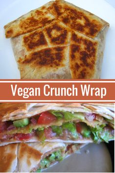 This vegan crunch wrap tastes amazing and and is a whole lot more healthier than the original version.