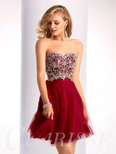 Buy 2017 homecoming dresses a line sweetheart tulle with beading Online Red Formal Dresses, Grad Dresses Short, Strapless Prom Dresses, Prom Dresses 2017, Pageant Dresses, Short Prom, Formal Prom, Dress Prom, Casual Dresses