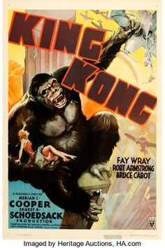 "Movie Posters:Horror, King Kong (RKO, R-1938). One Sheet (27"" X 41"").. ..."